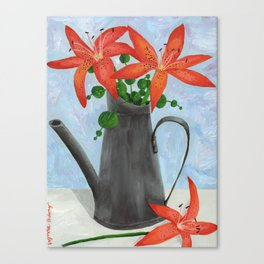 Orange Lilies Still Life Canvas Print