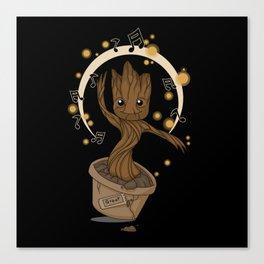Groovy baby Groot Canvas Print