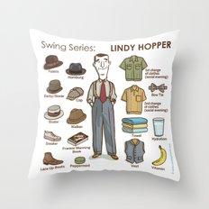 SWING SERIES: LINDY HOPPER Throw Pillow