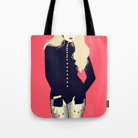2ne1 Tote Bags featuring The Baddest by Yabamena