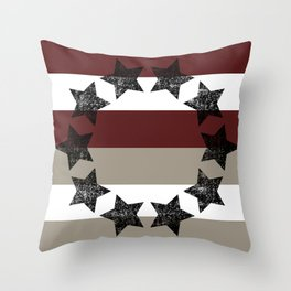 Country Americana Stars and Stripes  Throw Pillow