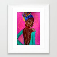 african Framed Art Prints featuring African by Ksuhappy