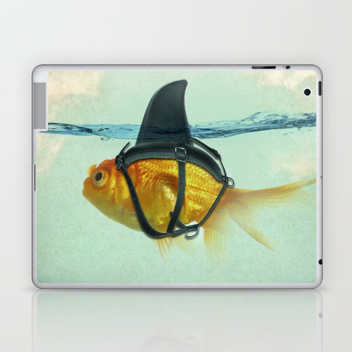 Brilliant DISGUISE - Goldfish with a Shark Fin Laptop & iPad Skin