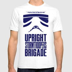 UPRIGHT STORMTROOPERS BRIGADE MEDIUM Mens Fitted Tee White