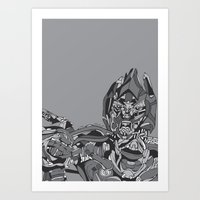 transformers Art Prints featuring Transformers: Megatron by Skullmuffins