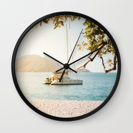 Fitzroy Island Catamaran | Cairns Australia Tropical Beach Sunset Photography Wall Clock