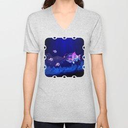 Anglerfish, lie and bioluminescence Unisex V-Neck