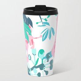 Botanical contrast Travel Mug