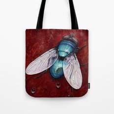 Green Bottle fly Tote Bag