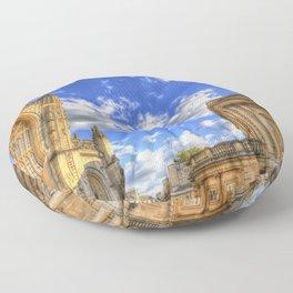 Bath Abbey And Roman Baths Floor Pillow