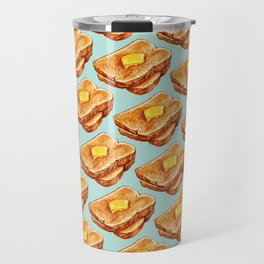 Toast Pattern Travel Mug
