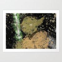 Yoda Splatter Art Print