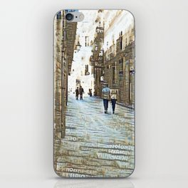 Barcelona digital street photography + Dreamscope iPhone Skin