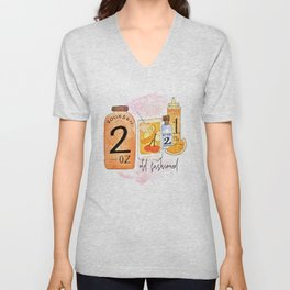 An Old Fashioned Cocktail Unisex V-Neck