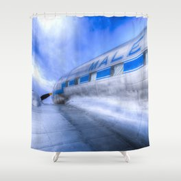 Malev Lisunov Li-2 Aircraft Shower Curtain
