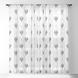 Diamonds are forever Pattern 1 Sheer Curtain
