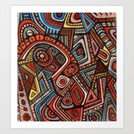 African Patterns Art Print