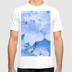 Hydrangea Macrophylla Mens Fitted Tee MEDIUM White