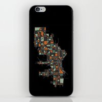 milwaukee iPhone & iPod Skins featuring Milwaukee by BigRedSharks