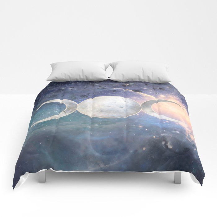 Heavenly Universe Triple Moon Goddess Comforters