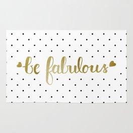 Be Fabulous Gold Polka Dots Rug