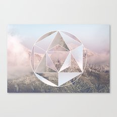 Sacred Geometry on Mountains Canvas Print
