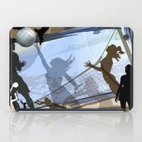 volleyball iPad Cases featuring Anyone For Volleyball? by Robin Curtiss