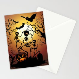 Skeletons Macabre Dance Stationery Cards