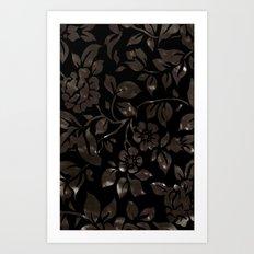 floral grunge Art Print