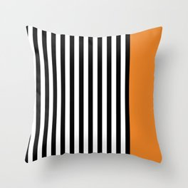 Liquorice allsorts, orange Throw Pillow
