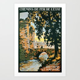Bretagne et Normandie, French Travel Poster Art Print