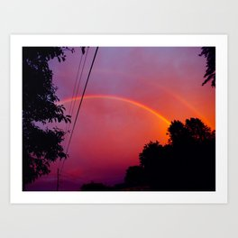 neon rainbows Art Print