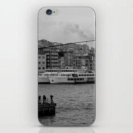 fishing on the Galata Bridge iPhone Skin