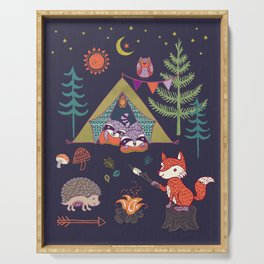 Racoon's Campout Serving Tray