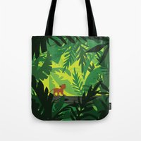 simba Tote Bags featuring Lion King - Simba Pattern by Cina Catteau