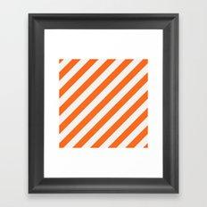 diagonal - orange Framed Art Print