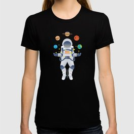 Astronaut On Unicycle, Juggling, Space Universe, Planets, Space Lover, Juggle, Juggling Astronomy T-shirt