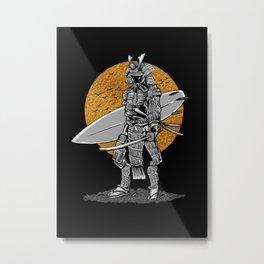 Samurai Surfer Metal Print