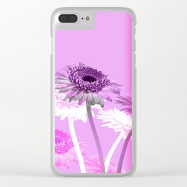 flowers are flowers and pink is the warmest color Clear iPhone Case