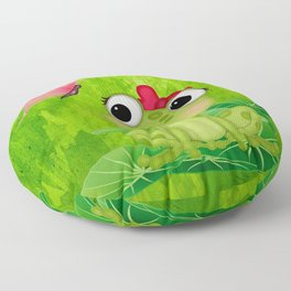 Cute Girl Frog  Floor Pillow