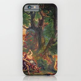 Eugne Delacroix - Jacob Wrestling with the Angel iPhone Case
