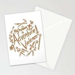 Adventure Violence Stationery Cards