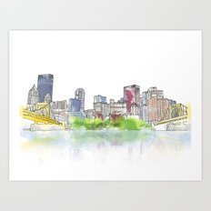 Pittsburgh Downtown Art Print