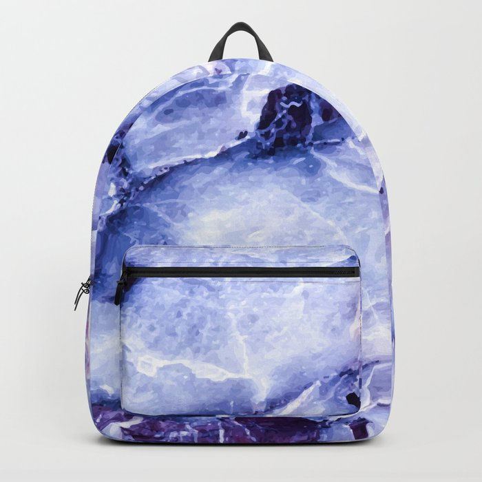 Purple Marble Backpack