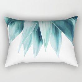 Agave geo fringe - teal Rectangular Pillow