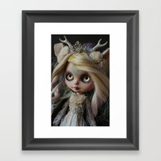 ANCIENT FOREST DEER SPIRIT (Ooak BLYTHE Doll) Framed Art Print