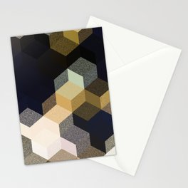 CUBE 1 GOLD & BLACK Stationery Cards