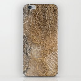 textured jute fabric for background and texture iPhone Skin