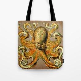 Vintage Golden Octopus Tote Bag