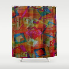 Topsy Turvy Squares Shower Curtain